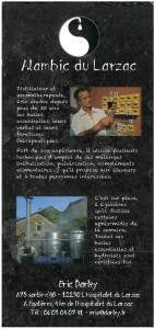 Plaquette Alambic du Larzac