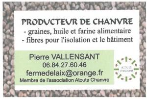 Carte Pierre Vallensant Chanvre