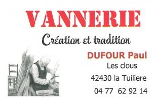 Carte Vannerie Dufour